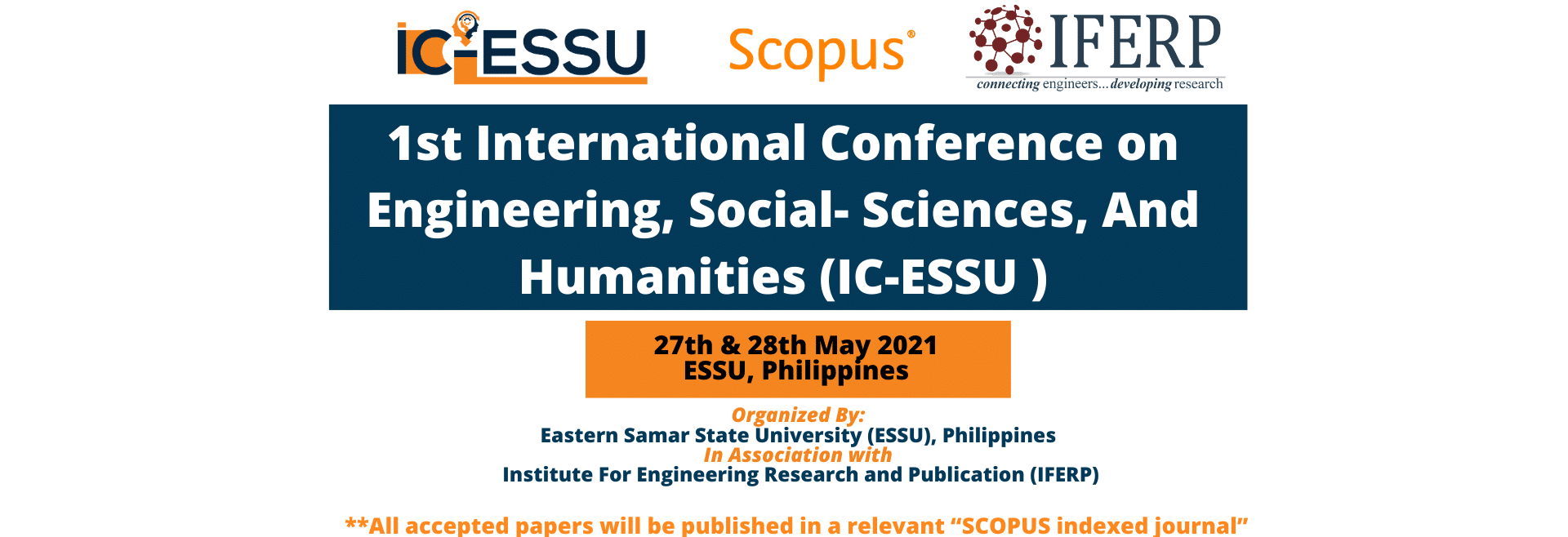 1st International Conference on Engineering, Social- Sciences, And Humanities (IC-ESSU)